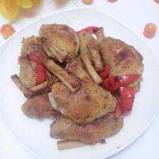 椒盐鸡翅杏鲍菇