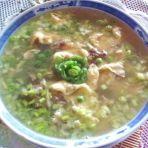 鸡蛋草菇豌豆汤