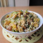 鸡蛋虾米生菜炒饭