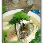 芥菜鱼头豆腐汤的做法