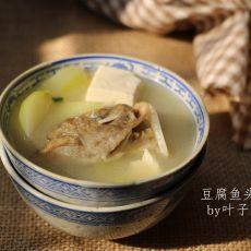 节瓜鱼头豆腐汤