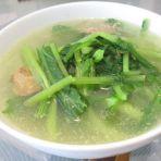 鸡肝芥菜汤