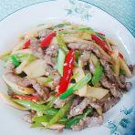 鸡肶菇炒牛肉