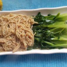 金针菇炒油菜的做法