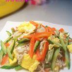 金针菇黄瓜炒鸡蛋
