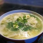 金针菇香菜蛋花汤的做法