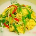 韭黄三丝炒蛋的做法