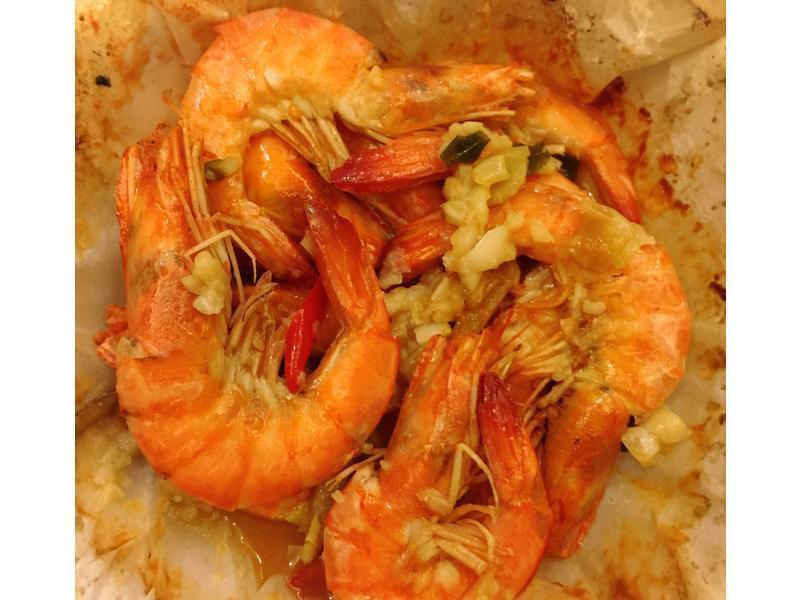 酒蒸蒜香虾(烤箱版)