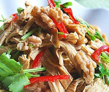 鸡汁拌腐竹