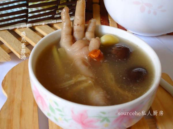 鸡爪香菇汤