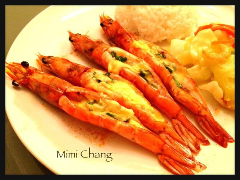 焗烤蒜蓉草虾