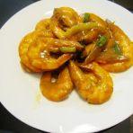 咖喱炒虾的做法