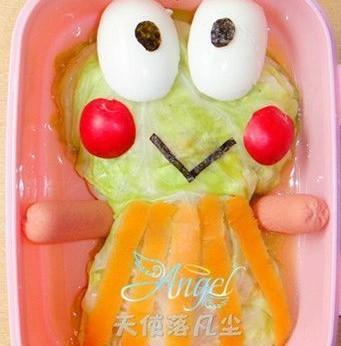 可爱青蛙海米包菜的做法