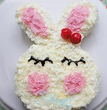 可爱兔蛋糕的做法