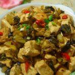 客家咸酸菜烧豆腐的做法