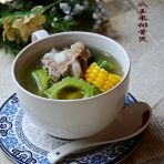 苦瓜玉米排骨汤的做法