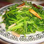 辣炒茼蒿的做法