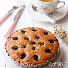 蓝莓蛋糕的做法