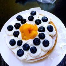 蓝莓芒果裱花蛋糕