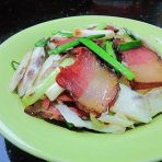 腊肉炒淮山薯