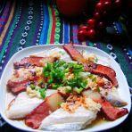 腊肉酒酿蒸带鱼