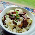 腊肉蒸糯米饭