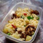 腊乳鸽土豆焖饭