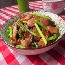 腊瘦肉炒蒜苔