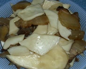 腊味杏鲍菇的做法