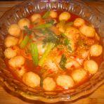 辣煮白菜鸡肉丸