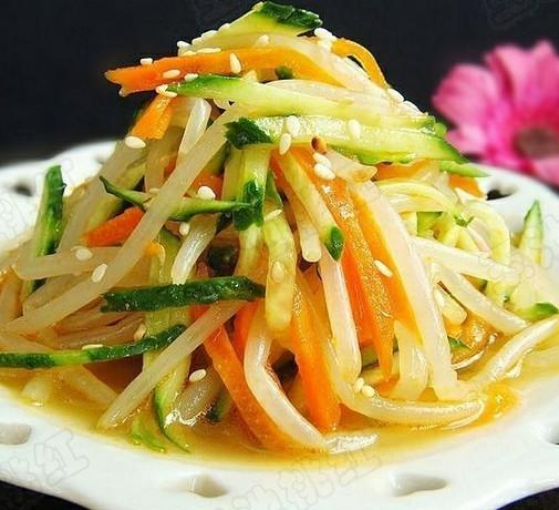 凉拌豆芽黄瓜菜