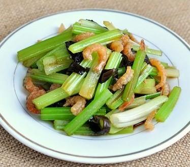 凉拌海米芹菜的做法