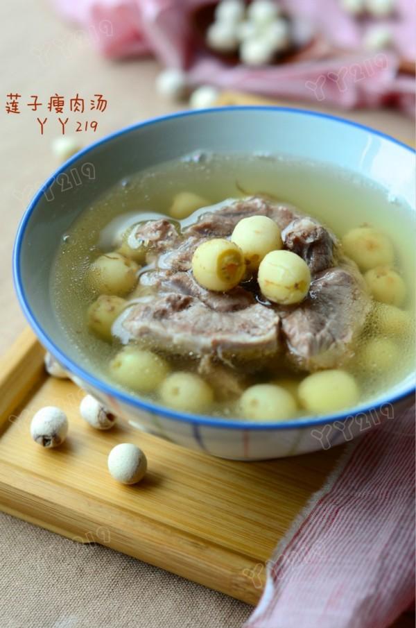 莲子瘦肉汤的做法