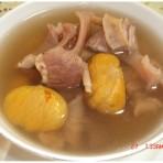 栗子煲隔子肉汤
