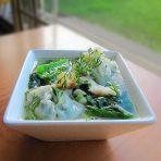 龙利鱼片芥菜煮云吞的做法