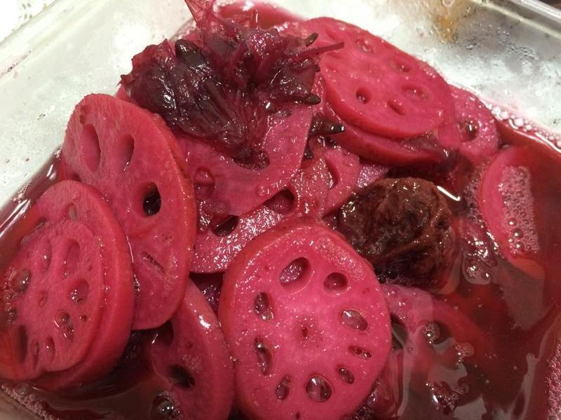 洛神花果酱凉拌莲藕的做法