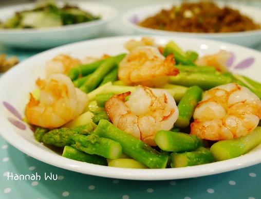 芦笋清炒鲜虾