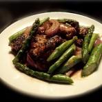 芦笋洋葱煎肉