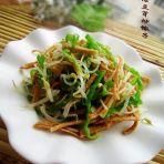 绿豆芽炒馓子的做法