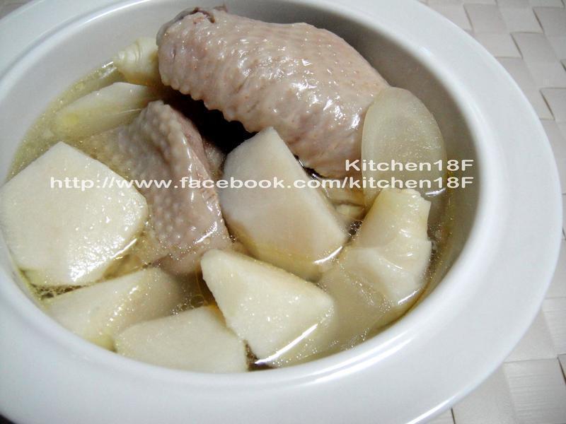 绿竹笋炖鸡汤