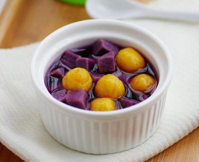 麦香紫薯金瓜圆