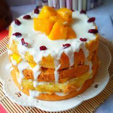 芒果酸奶裸蛋糕的做法