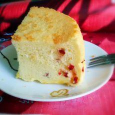 蔓越莓低脂戚风蛋糕