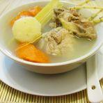 茅根竹蔗猪骨汤的做法