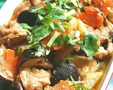 麻油香菇蒸鸡球