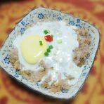 梅菜蒸肉饼窝蛋