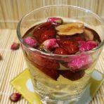 玫瑰花红枣蜂蜜水