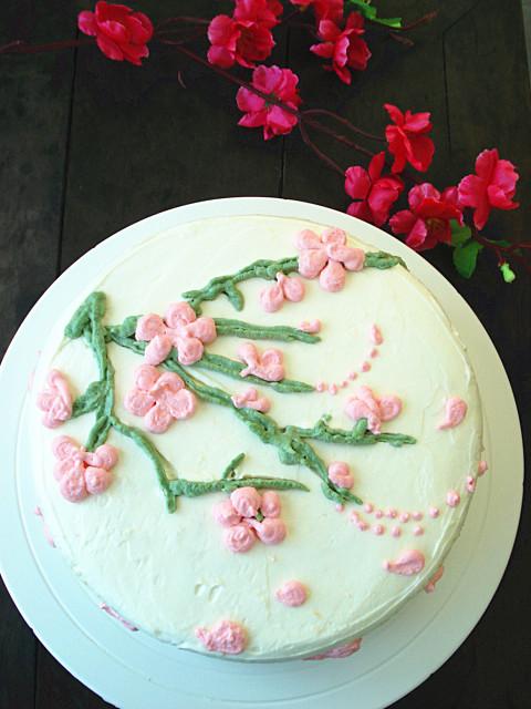 梅花奶油蛋糕的做法