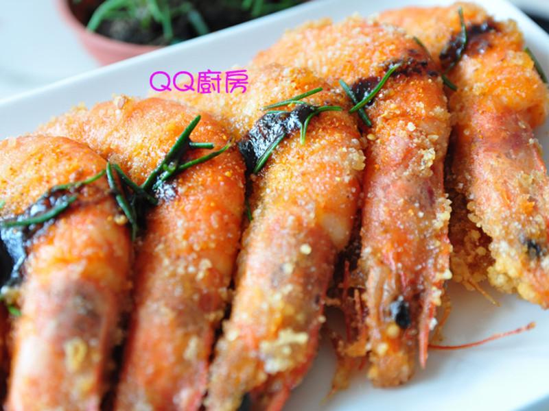 迷迭香梅酱汁炸虾的做法