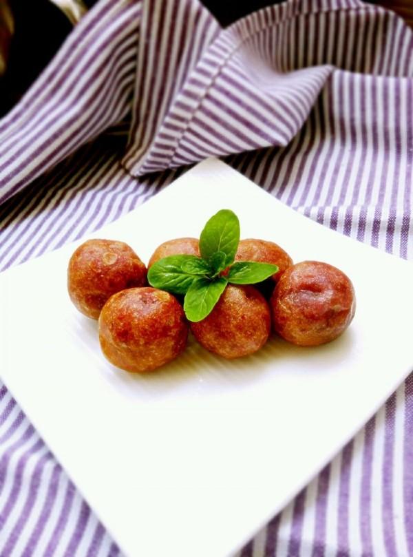 蜜豆紫薯小丸子